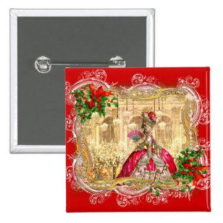 Festa de Natal Versalhes de Marie Antoinette Bóton Quadrado 5.08cm