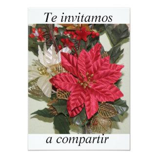 festa de Navidad do invitacion Convite 12.7 X 17.78cm