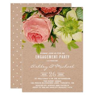 Festa de noivado botânica do papel de embalagem convite 12.7 x 17.78cm