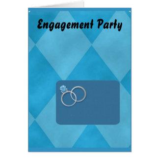 Festa de noivado cartão de nota