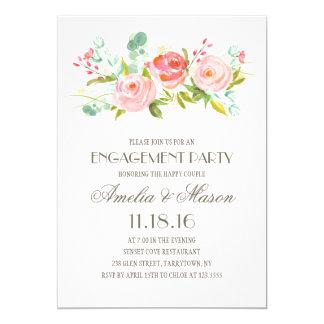 Festa de noivado do jardim de rosas   convite 12.7 x 17.78cm