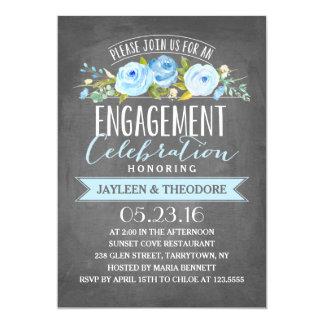 Festa de noivado do noivado   do quadro convite 12.7 x 17.78cm