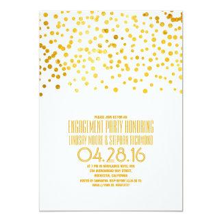 Festa de noivado moderna dos confetes da folha de convite 12.7 x 17.78cm
