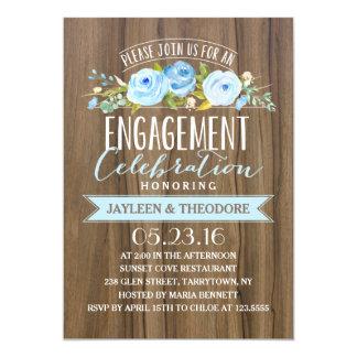 Festa de noivado rústica do noivado   convite 12.7 x 17.78cm