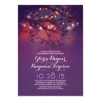 Festa de noivado rústica dos ramos & das luzes de convite 12.7 x 17.78cm