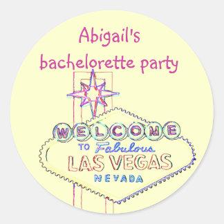 Festa de solteira de Las Vegas Adesivo