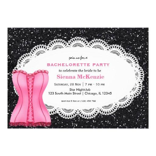 Festa de solteira do espartilho convite personalizado