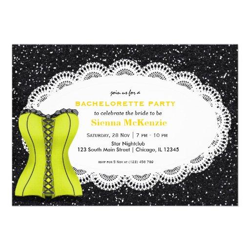 Festa de solteira do espartilho convites personalizados