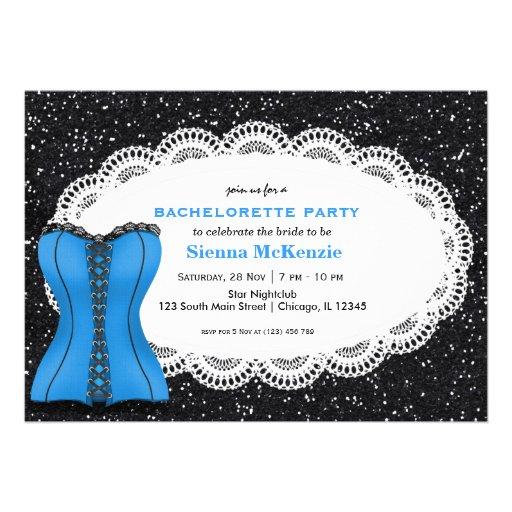 Festa de solteira do espartilho convites