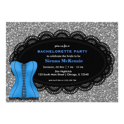 Festa de solteira do espartilho convites personalizado