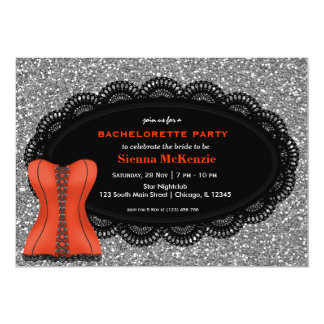 Festa de solteira do espartilho convite personalizados