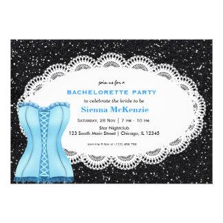 Festa de solteira do espartilho convite