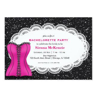 Festa de solteira do espartilho convite 12.7 x 17.78cm