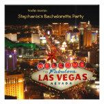 Festa de solteira do estilo de Las Vegas Convite Personalizado