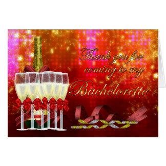 Festa de solteira dos cartões de agradecimentos