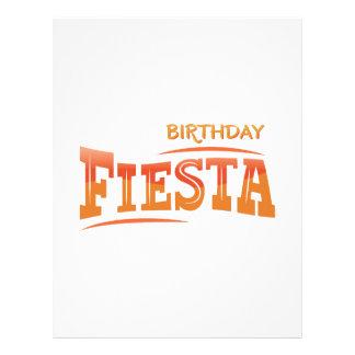 Festa do aniversário papéis de carta personalizados