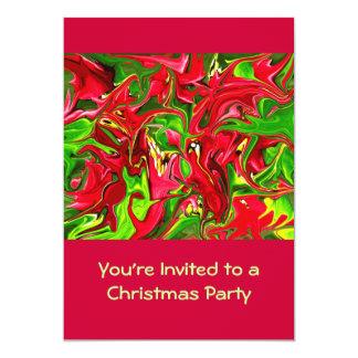 festa em casa aberta do Natal Convite 12.7 X 17.78cm