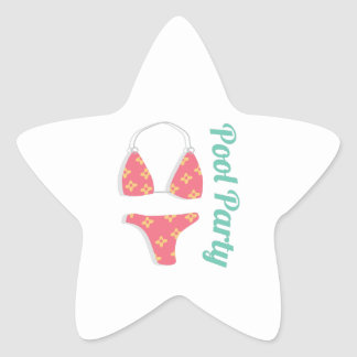 Festa na piscina adesito estrela