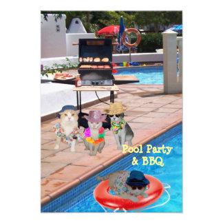Festa na piscina & CHURRASCO Convites