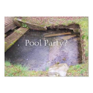 Festa na piscina? convite 12.7 x 17.78cm
