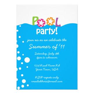 Festa na piscina convite personalizado