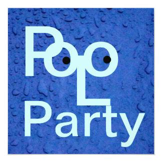 Festa na piscina convites personalizado