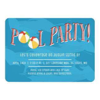 Festa na piscina! Convite
