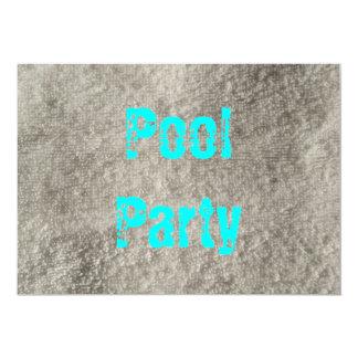 Festa na piscina convite 12.7 x 17.78cm