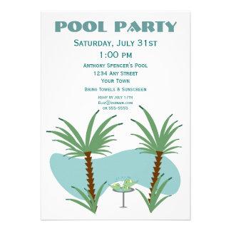 Festa na piscina do Birdbath Convites