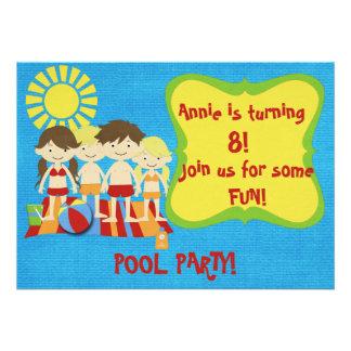 Festa na piscina do divertimento convite