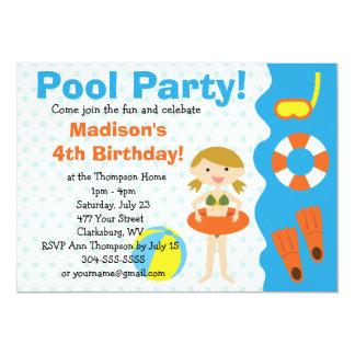 Festa na piscina feita sob encomenda do convite