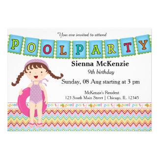 Festa na piscina menina