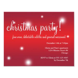Festa natalícia branca vermelha do Natal do Convites Personalizados