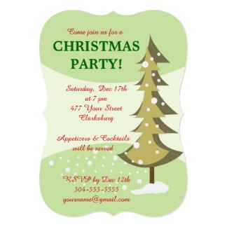 Festa natalícia da árvore de Natal Convites Personalizados