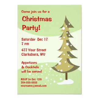 Festa natalícia da árvore de Natal Convite Personalizados