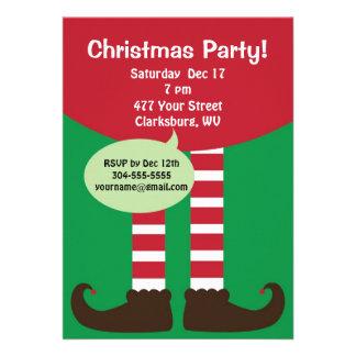 Festa natalícia do duende do Natal Convite Personalizado