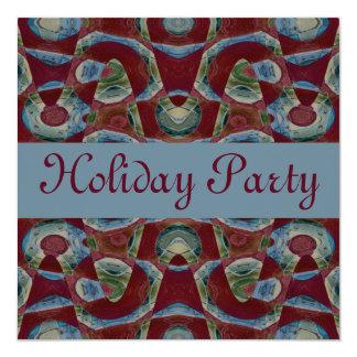 festa natalícia do marrom azul convite quadrado 13.35 x 13.35cm