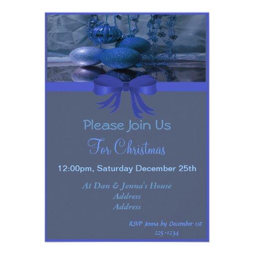 Festa natalícia do Natal Convites Personalizados