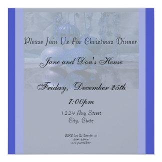 Festa natalícia do Natal Convite Quadrado 13.35 X 13.35cm