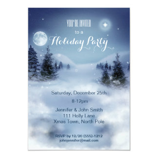 Festa natalícia do Natal da neve do país das Convite 12.7 X 17.78cm