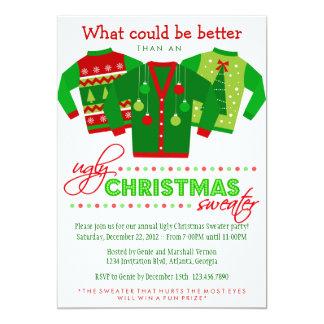 Festa natalícia feia da camisola do Natal Convite 12.7 X 17.78cm