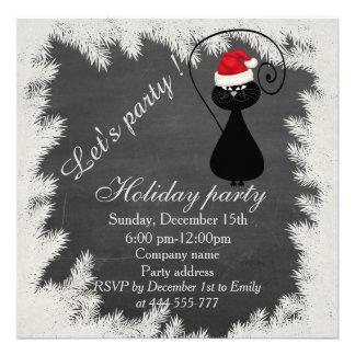 Festa natalícia incorporada do quadro engraçado do convite quadrado 13.33 x 13.33cm