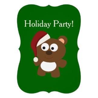 Festa natalícia Urso do papai noel Convites