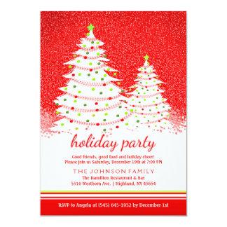 Festa natalícia - vermelho com convite branco da