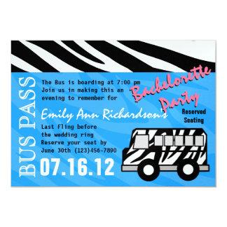 Festança da festa de solteira do ônibus do partido convite 12.7 x 17.78cm