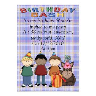 Festança do aniversário convite personalizado