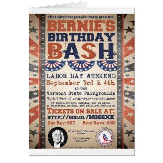 Festança do aniversário de Bernie 75th e festival Cartão