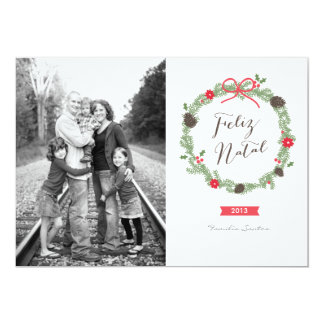 Festão do Natal Foto Cartão de Natal