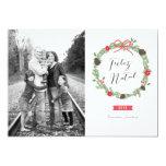Festão do Natal Foto Cartão de Natal Convites Personalizado