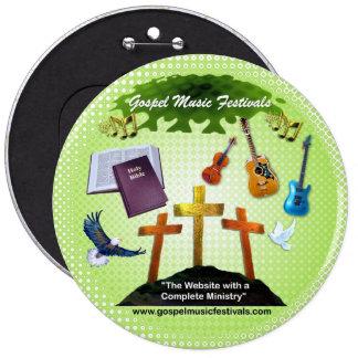 Festivais de música do evangelho bóton redondo 15.24cm